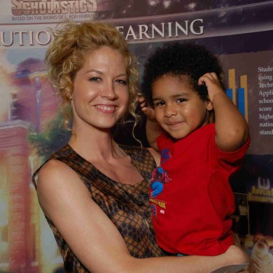 Jenna Elfman & my grandson Jayden