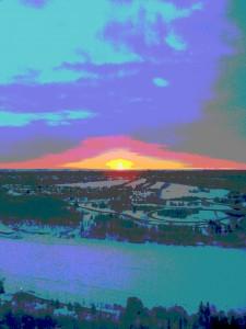 Sunrise in Edmonton